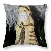 Father Christmas Ornament Throw Pillow