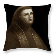 Father Junipero Serra  California Missions 1713-1784 Throw Pillow by California Views Archives Mr Pat Hathaway Archives