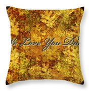 Father's Day Greeting Card Iv Throw Pillow