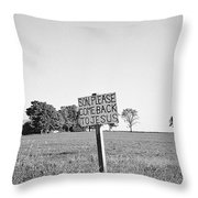 Father's Plea Throw Pillow