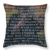 Fathers Sons And Brothers Of The Wall Throw Pillow