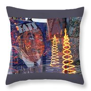 Fats' Watercolor Frenzy Throw Pillow