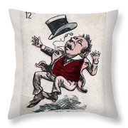 Fatty Fall Throw Pillow