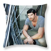 Faubourg Alley Man Throw Pillow