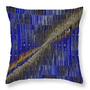 Fault Line Blues Throw Pillow