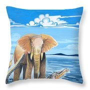 Faune D'afrique Centrale 02 Throw Pillow