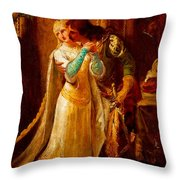 Faust And Gretchen Throw Pillow