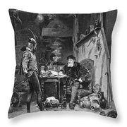 Faust And Mephistopheles Throw Pillow