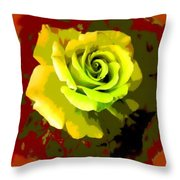 Fauvism Roses Triptych Throw Pillow