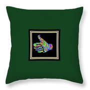 Fauvism Thumbs Up Throw Pillow