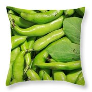 Fava Bean Pods Throw Pillow