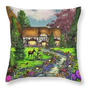 Fawn Haven Throw Pillow