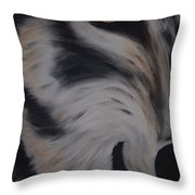 Fawn In A Red Wolf's Eye Throw Pillow