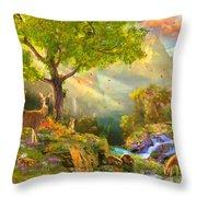 Fawn Mountain Throw Pillow