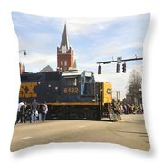 Fayetteville Christmas Parade Throw Pillow