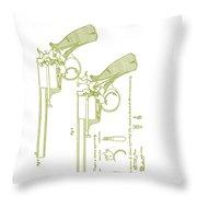 F.b.e Beaumont Revolver Patent Throw Pillow