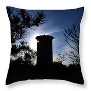 Fct1 Fire Control Tower 1 In Silhouette Throw Pillow