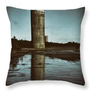 Fct3 Fire Control Tower Reflections In Sepia Throw Pillow