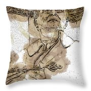 Fdr - 3164 Brown Water Sketch Throw Pillow