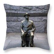 Fdr Memorial Throw Pillow