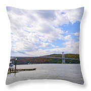 Fdr Mid Hudson Bridge - Poughkeepsie Ny Throw Pillow