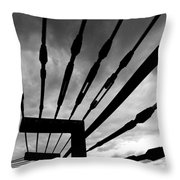 Fear And Anger Throw Pillow
