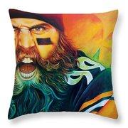 Fear Da Beard Throw Pillow by Scott Spillman