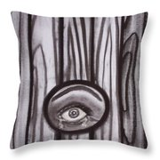 Fear - Eye Through Fence Throw Pillow
