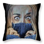 Eyes Throw Pillow by Leida  Nogueira