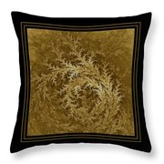 Fear Of The Forest-2 Framed Black And Gold Throw Pillow