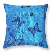 Fearless Butterflies 2011 Throw Pillow