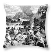 Feast During The Reindeer Epoch Throw Pillow