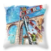 Feast In Vila Do Conde In Portugal Throw Pillow
