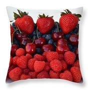 Feast Of Fruit Throw Pillow