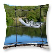 Feather And Fence Throw Pillow