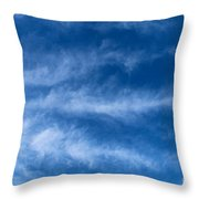 Feather Clouds On Blue Sky Throw Pillow