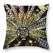 Feather Crown Throw Pillow