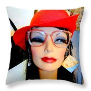 Feather In Her Cap Throw Pillow