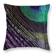 Feather Of A Different Color Throw Pillow