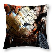 Feathered Abstract 2 Throw Pillow