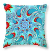 Feathered Coil Throw Pillow