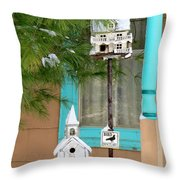 Feathered Friends Welcome Throw Pillow