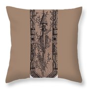 Feathers Thorns And Broken Arrow Bookmark No1 Throw Pillow