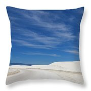 Feathery Clouds Over White Sands Throw Pillow