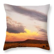 Feathery Sunset Clouds Throw Pillow