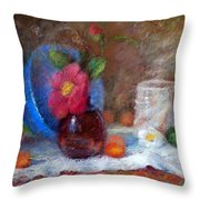 Featured Blue Bowl   Throw Pillow by Nancy Stutes