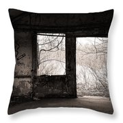 February - Comfortable Seclusion - Self Portrait Throw Pillow