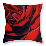 February Rose Throw Pillow