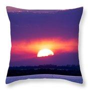 February Sunset Throw Pillow