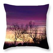 February's Dramatic Sunrise Throw Pillow